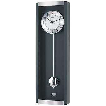 Clock pendulum wall clock radio pendant wood cabinet black combined with aluminium