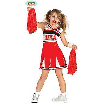 Kinder Kostüme Zombie Cheerleader für Mädchen