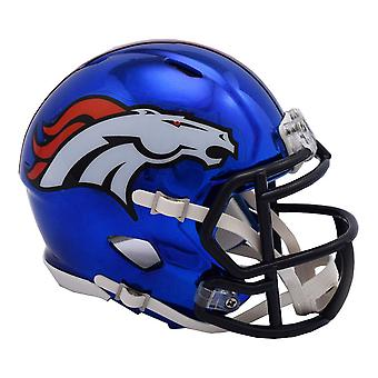 Riddell mini football helmet - NFL Denver Broncos CHROME