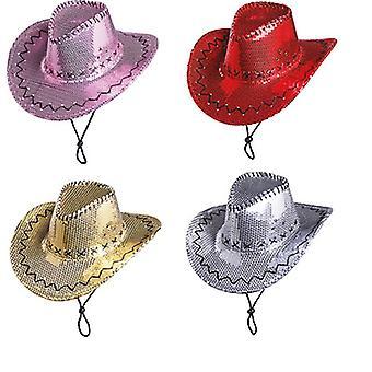 Akcesoria cekinów kapelusz kowbojski kapelusz karnawał Halloween