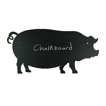 Black Pig Shaped Hanging Chalkboard