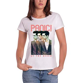 Panic At The Disco T Shirt Brendan Seeing Triple Official Womens Skinny Fit
