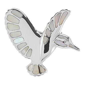 Orton West Kingfisher Brooch - Silver