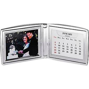 David Van Hagen sølv belagt Folding kalender foto rammen - sølv