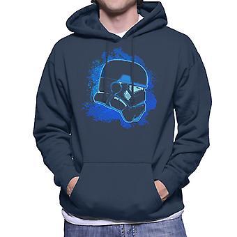 Original Stormtrooper blå siluett Mäns Hooded Sweatshirt
