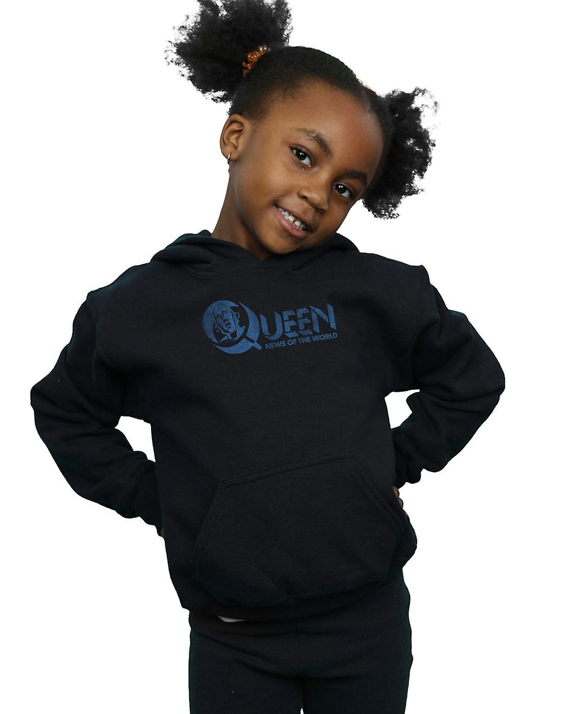 Queen Girls Distressed News Of The World Hoodie