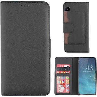 Colorfone Portfel Obudowa iPhone X / Xs Portfel Case Black