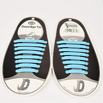 Trendy shoelaces that do not need to be tied 8 pairs of light blue