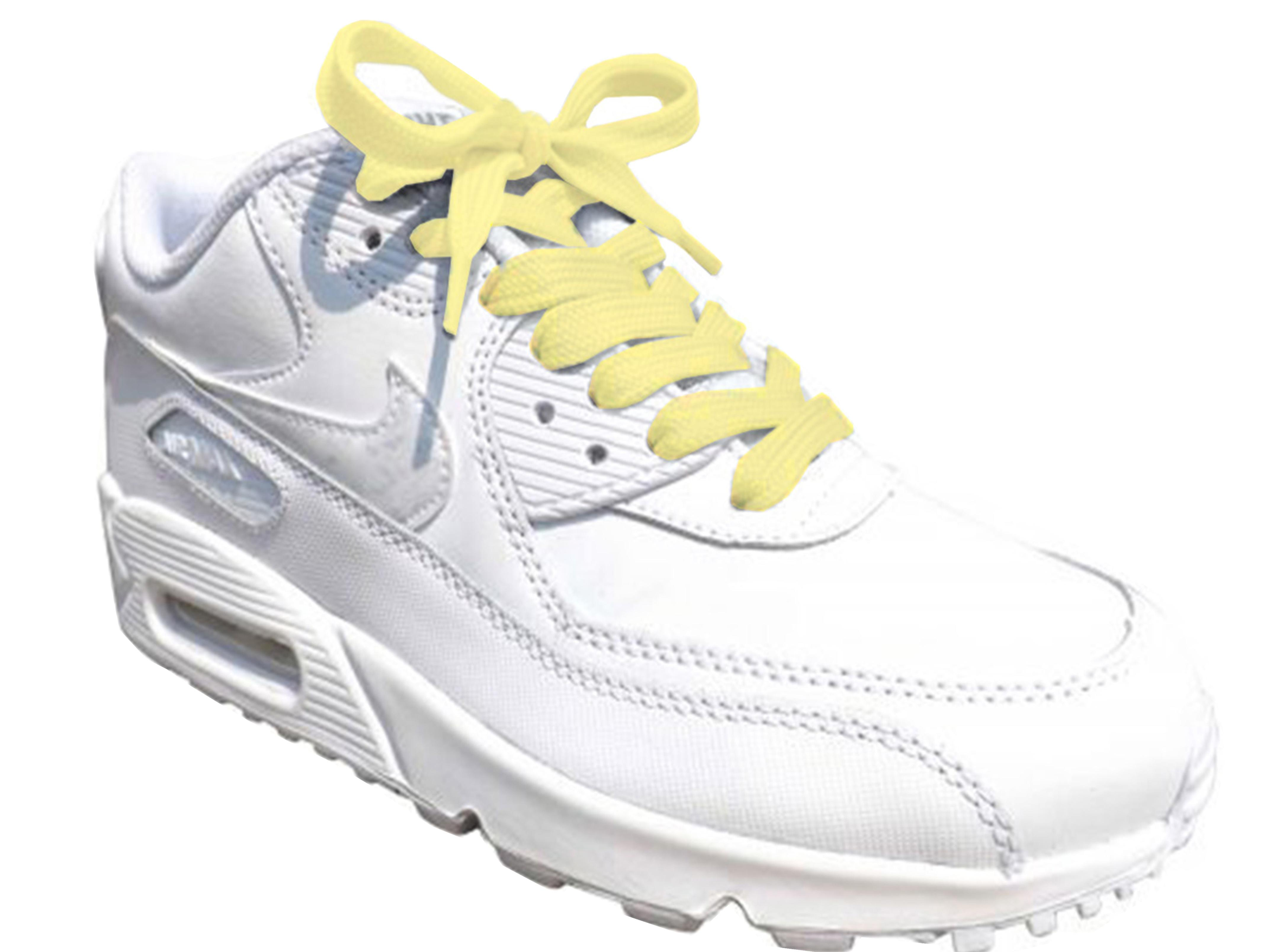 Yellow Pastel Flat Trainer Laces