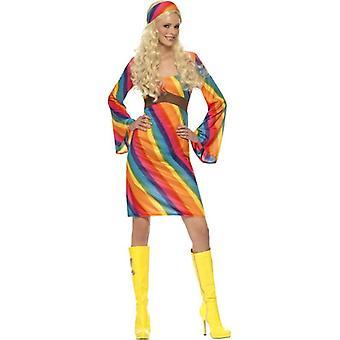 Rainbow Hippie Costume, UK Dress 20-22