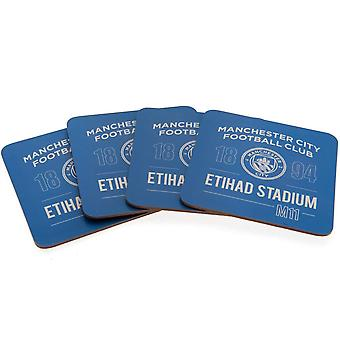 Manchester City FC Coaster Set (Pack de 4)