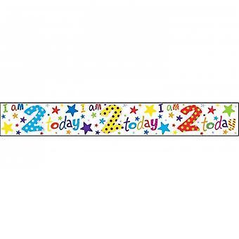Simon Elvin barnens/ungar jag 2 dag folie födelsedag Banner
