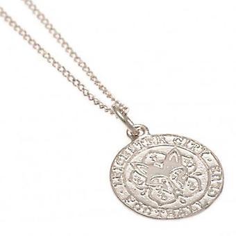 Ciondolo in argento Sterling Leicester City & catena