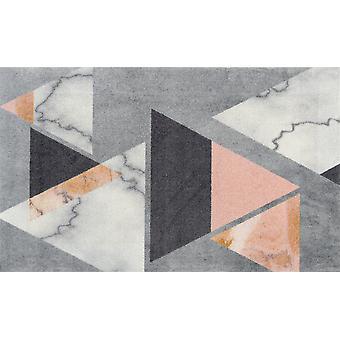 wash + dry mat velvet marble rimless washable rug decor