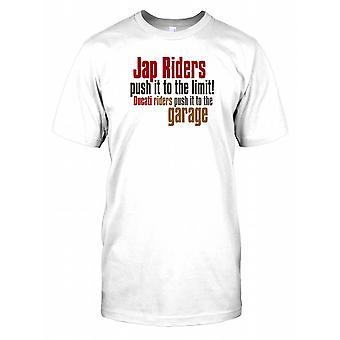 JAP-Riders schieben Sie es bis an die Grenze... - Witz-Herren-T-Shirt