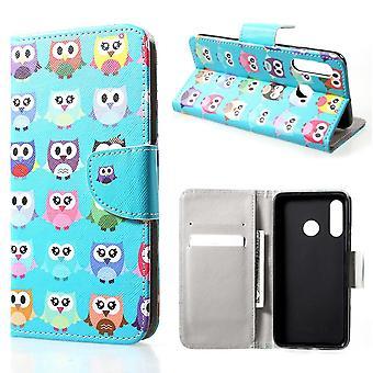 Huawei P30 Lite Monedero Case-Little Owls