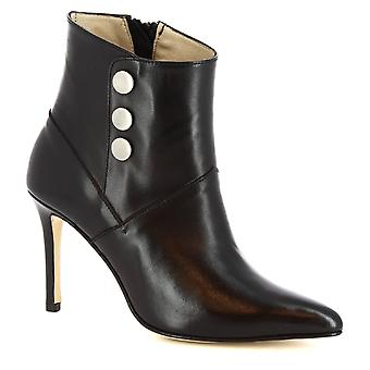 3da32d6b83c Leonardo Shoes Women s handmade stiletto ankle boots in black calf leather