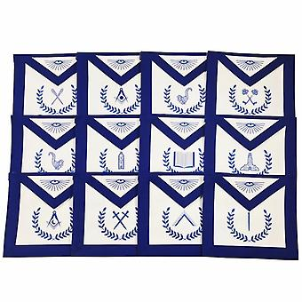 Masonic Blue Lodge Machine Embroidered Aprons