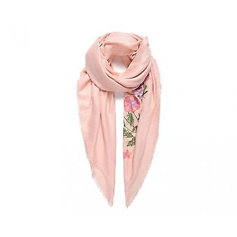 Fable Womens/Ladies Flower Embroidered Square Scarf