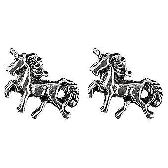 Sterling Silver Unicorn Stud Earrings