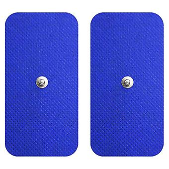 MED-FIT 5x10cm Pack von 16 Flexi Stim 3,5mm Stud TENS Self-Adcve Pads