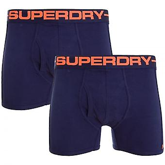 Superdry Sport Boxer Double Pack Más Rico Navy