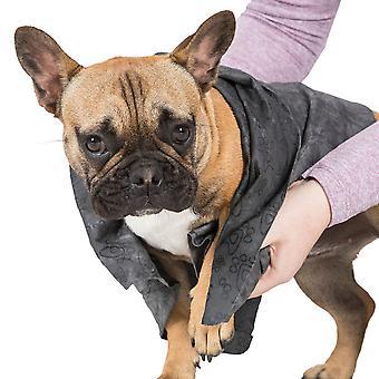 Overtredelse mens sotet super absorberende walking hunde håndkle
