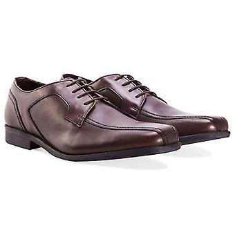 Mens cushion step brown leather gibson shoe