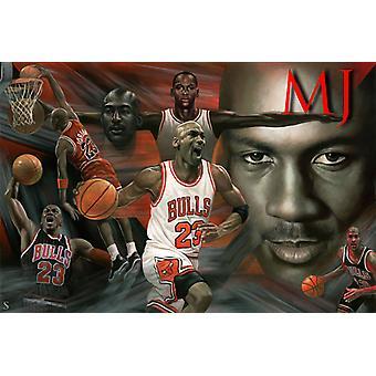 Affiche - Studio B - Michael Jordan - Affiche régulière 36x24