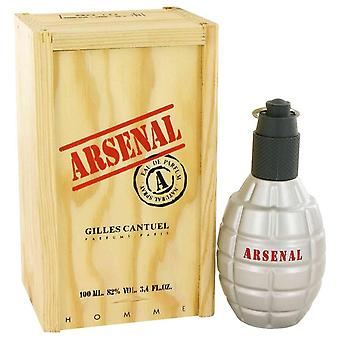 Arsenal red eau de parfum spray by gilles cantuel 417143 100 ml