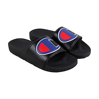 Champion Ipo Mens Black Synthetic Slides Sandals Chaussures
