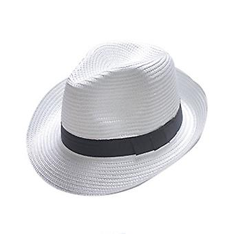 Wide Brim Straw Panama Roll up Hat Fedora Beach Sun Hat UPF50+