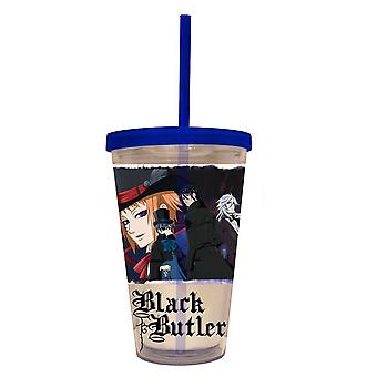 Cold Cup Plastic Strew - Black Butler - Top Hat New cc-bb-tophs