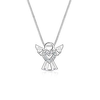 Elli Women's Necklace in Silver 925 with Crystal - Angel