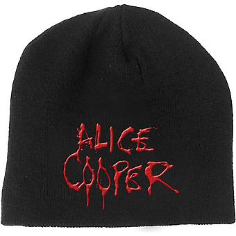 Alice Cooper Beanie Hat Dripping Band Logo Schools Out new Official Black