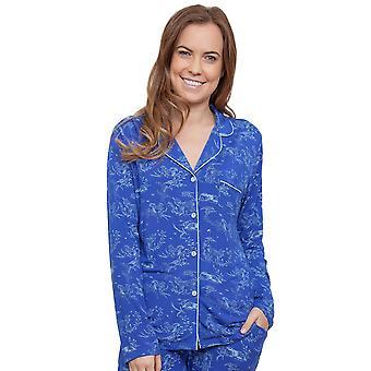 Cyberjammies 3883 naisten Elisa Blue poro tulostaa Pajama Pyjama Top