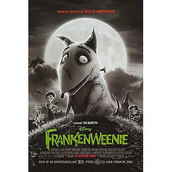 Frankenweenie poster dupla face regular (2012) original cinema poster