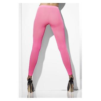 Womens Pink opak Footless Tights Fancy Dress Zubehör