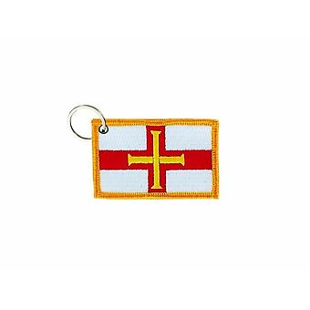 Cle Cles Key Brode Patch Ecusson Badge Guernsey Flag