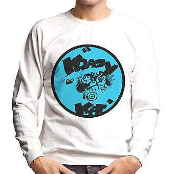 Krazy Kat Blue Logo Men's Sweatshirt