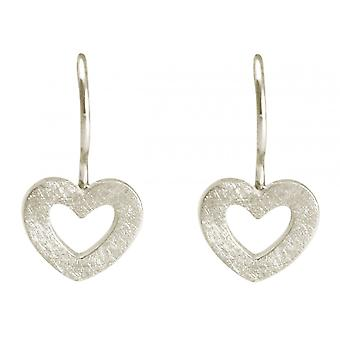 GEMSHINE women's earrings OPEN HEART solid 925 silver, gold plated or rose