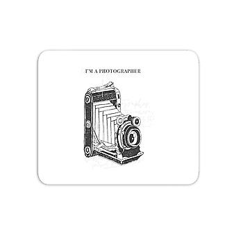 Photography Vintage Scribble Mouse Mat
