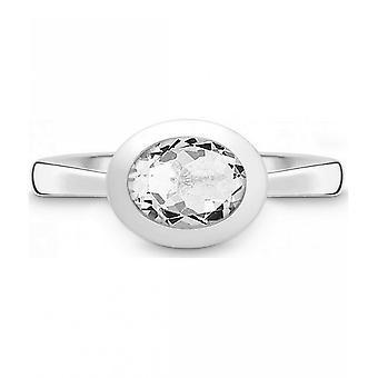 QUINN - حلقة - نساء - فضية 925 - أحجار كريمة - توباس أبيض - عرض 56 - 21400620