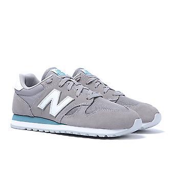 New Balance U520 Stone Grey Suede Trainers