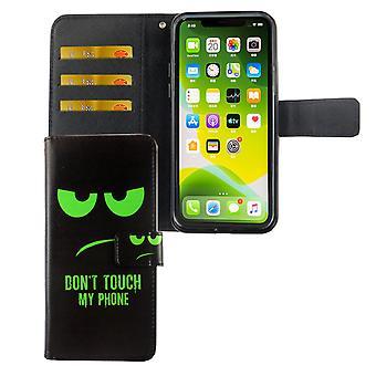 أبل iPhone 11 برو ماكس حالة الهاتف واقية غطاء حالة الوجه مع علبة بطاقة دون & apos; لا تلمس هاتفي