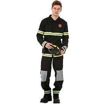 Cinci-alarmă pompier Halloween costum, X-Large