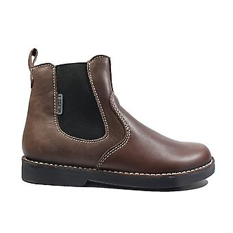 Ricosta Denis Brown Leather Boys Zip Up Chelsea Boots