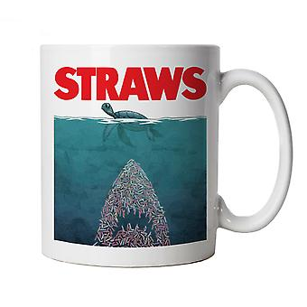 Straws Jaws Inspired Environmental Mug Cup Ocean Conservation Turtle Rescue