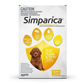 Simparica for Dogs 1.3-2.5 kg (2.8-5.5 lbs) - 3 Pack