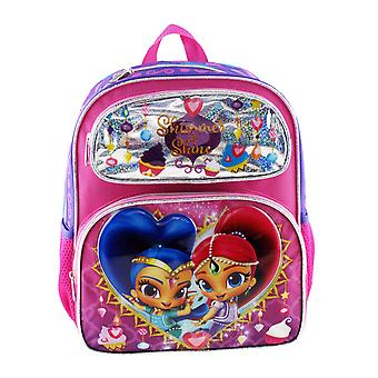 Small Backpack - Shimmer and Shine - Shiny Pink New 009076